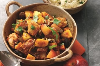 African peach and chicken tagine recipe