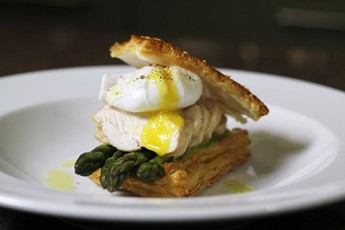 Darrin Hosegrove's Chicken And Puff Pastry Tart Recipe — Dishmaps
