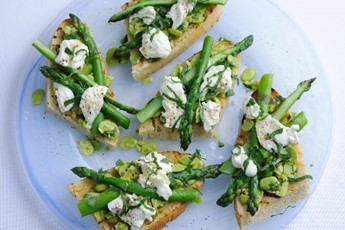 Asparagus bruschetta recipe