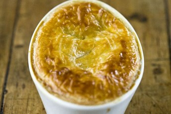 Cod, leek and blue cheese pies recipe