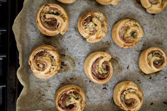 ... Bacon Roly-Polies; perfect swirls of bacon and cheese wrapped up in