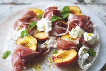 Lucas Hollweg's Peach, Prosciutto And Mozzarella Salad Recipes ...