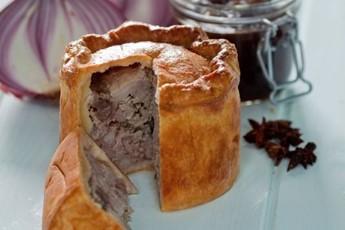 Pork Pie Leaking Pork Pie With Sticky Onion