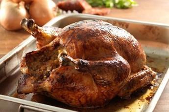 Rachel Allen's roast chicken with chorizo stuffing recipe