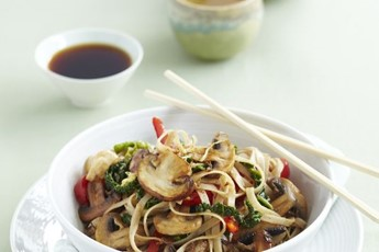 Simon Rimmer's spring cabbage and sticky mushroom stir-fry recipe