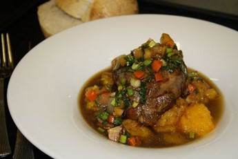 Slow-braised lamb with sweet potato mash recipe