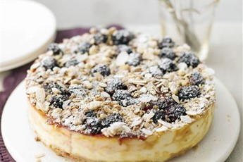 Berry crumble cheesecake recipe