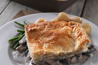 James Martin's chicken and wild mushroom pie recipe