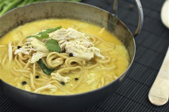 Curried chicken coconut noodle soup recipe