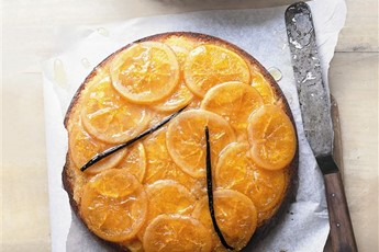 Donna Hay's sticky orange and vanilla upside-down cake recipe