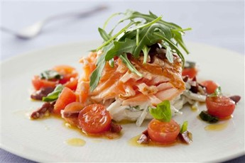 Salmon with kohlrabi and fennel slaw recipe