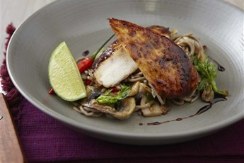 Chicken teriyaki with soba noodles recipe