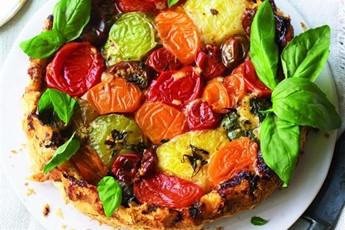 Upside-down heirloom tomato tatin recipe