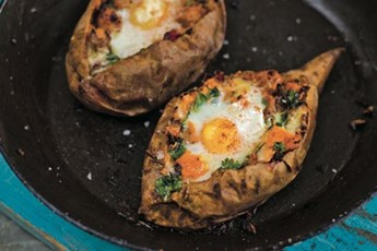 Levi Roots' sweet potatoes with spicy sausage recipe