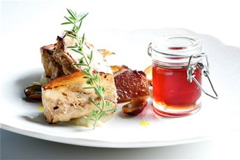 Slow-cooked pork belly with crab apple jelly recipe
