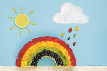 Frances Quinn's rainbow cake recipe