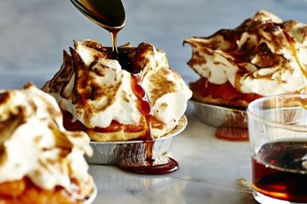 Sweet potato pies with marshmallow topping recipe