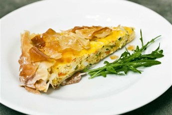 Vegetable filo pastry tart recipe