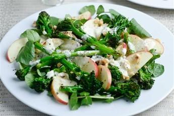 Tenderstem, apple, and toasted hazelnut salad recipe