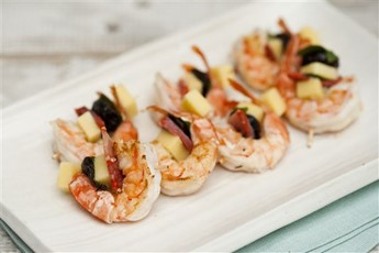 Tiger prawns, chorizo and cheddar recipe