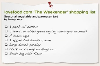 weekender shopping list
