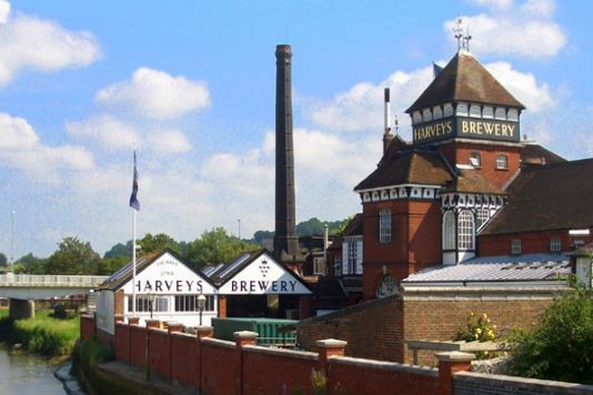 Harveys brewery in Lewes