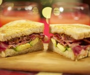 Avocado and smoked maple bacon sandwich with bacon jam recipe