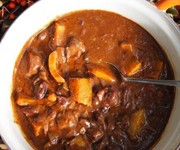 Bonfire chilli with beef, chocolate and pumpkin recipe