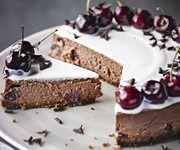 Black forest chocolate cherry cheesecake recipe