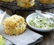 Cheese, Fenland celery and walnut scones recipe