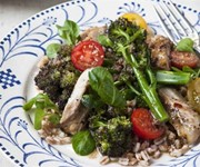 Davina McCall's chicken, broccoli and spelt salad recipe