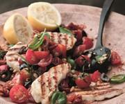 Grilled halloumi salad recipe