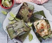 Keralan banana leaf grilled fish recipe
