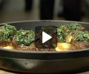 Braised pork cheeks with polenta recipe