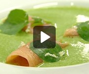 Watercress soup with smoked salmon recipe