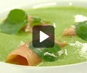 Watercress soup with smoked salmon recipe