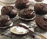 Dark chocolate and parsnip cakes