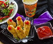 Spooky 'witch' fish fingers recipe
