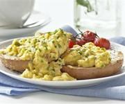 Herby scrambled eggs recipe