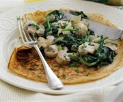 Rachel Allen's spinach and mushroom pancakes recipe