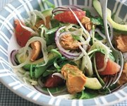 Grapefruit, avocado and salmon salad recipe