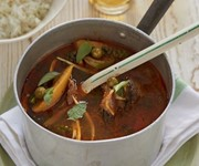 Venison jungle curry with green banana recipe