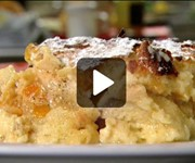 Lemon bread and butter pudding