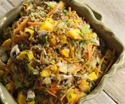 Wheatberry salad with roasted squash recipe